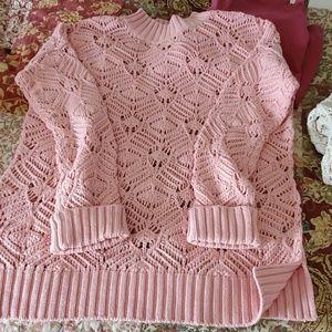 Beautiful NWOT open weave sweater Sz M